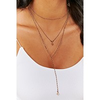 Oh So Darling Layered Necklace (Antique Gold)
