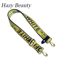 Hazy beauty 2017 New fabric women handbag character off series bag strap super chic lady new design bag stripe word lettes SS189