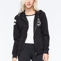 Young & Reckless Deep Cut Womens Hoodie Black  In Sizes