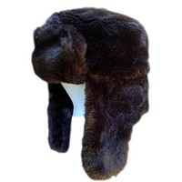 Youth/Adult Brown Faux Fur Trapper Hat