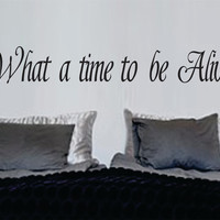 What A Time To Be Alive Vinyl Wall Decal Sticker Car Window Truck Decals Stickers Quote Lyric