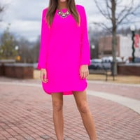 Live Wire Dress, Hot Pink