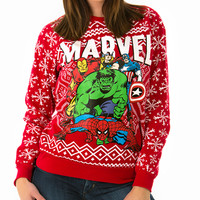 Merry Marvel Comic Holiday Sweater