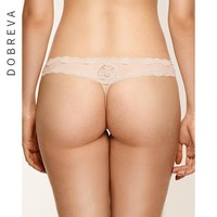 DOBREVA Women Sexy panties Underwears Solid Black Beige Lingerie Thong Big Size Hipster Panty