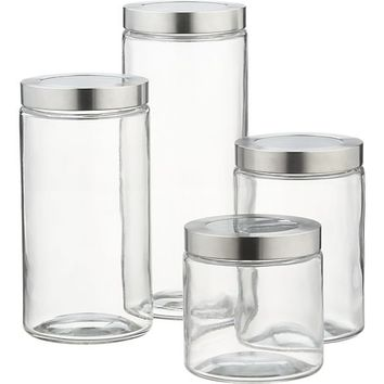 Extra Small Glass Storage Container with Stainless Steel Lid