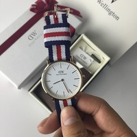 Daniel Wellington Woman Men Fashion Quartz Movement Watch Wristwatch