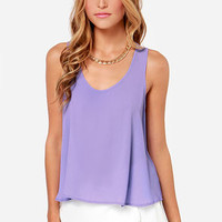 Craving Candy Lavender Top