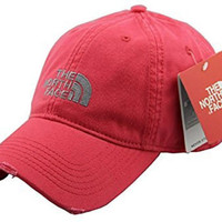 The North Face Watermelon Red Unisex Adjustable Horizon Classic Golf Sports Cap
