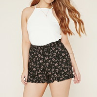 Plus Size Floral Shorts