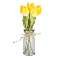 Summer Tulips in Glass