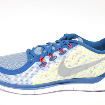 Nike Men's Free 5.0 Boston 2015 Blue/White Running Shoes 809424 407