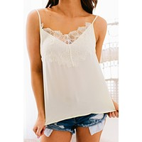 Deep In Love Lace Edged Cami (Sweet Cream)
