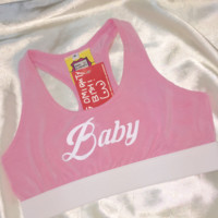 SWEET LORD O'MIGHTY! BABY RACER BRALET IN PINK