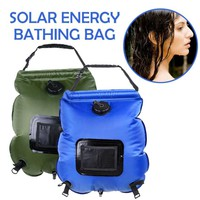 20L Water bags Camping Ultralight Shower Bag PVC Folding Portable Solar Outdoor Pop Up Beach Camping Traveling Bathing Bag