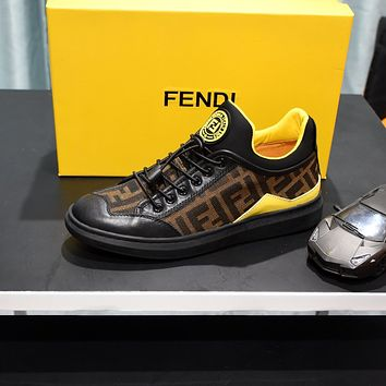 FENDI2021 Men Fashion Boots fashionable Casual leather Breathable Sneakers Running Shoes07310cx