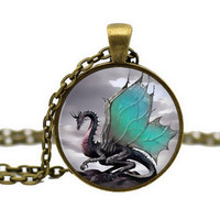 DRAGON CABOCHON NECKLACE