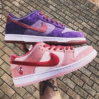 NIKE SB Dunk low pro hot sale classic color block suede low-top sneakers casual shoes