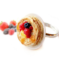 Pancakes with Berries Ring - Food Jewelry