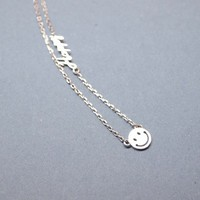 Happy Smile Necklace in Silver