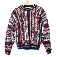 Bright Textured Multicolored Cosby Style Ugly Sweater - The Ugly Sweater Shop