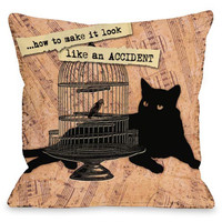 """Make Look Like An Accident"" Indoor Throw Pillow by Kate Ward Thacker, 16""x16"""