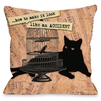"""""""Make Look Like An Accident"""" Indoor Throw Pillow by Kate Ward Thacker, 16""""x16"""""""