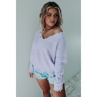 RESTOCK: Brighten My Day Sweater: Lilac