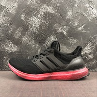 Adidas Ultra Boost Ub 4.0 Rainbow Sole Pack - Red  Running Shoes - Best Online Sale