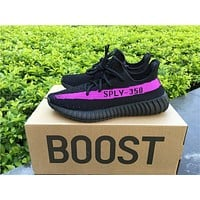 ADIDAS YEEZY 350 BOOST V2 BLACK PURPLE 40-46