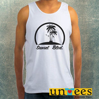 Sunsets Boulevard Logo Clothing Tank Top For Mens