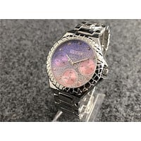 GUESS fashion trend gradient quartz waterproof steel belt watch F-Fushida-8899 2