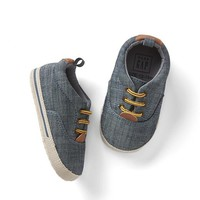 Chambray lace-up sneakers | Gap