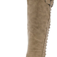 RHONADA15A STONE STUDDED KNEE HIGH RIDING BOOT