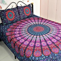 Queen Size Kyla Boho Tapestry & 2 Pillow Cases SET
