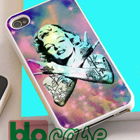 Marilyn Monroe Tattoed Galaxy For Iphone 4/4s, iPhone 5/5s, iPhone 5C, iphone 6, and iPhone 6 Plus Case