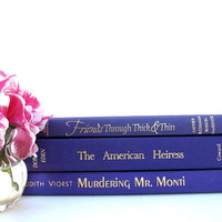 Purple Vintage Books / Book Decor / Interior Decorating / Home Decorating / Library Filler / Instant Library