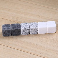 6pcs/set Natural Whiskey Stones Sipping Ice Mold