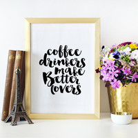 But First Coffee Bedroom Art Print Bedroom Decor Bedroom Wall Art Kitchen Art Print Kitchen Decor Printable Quotes Inspirational Art Print