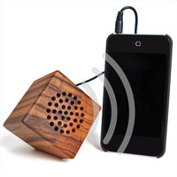 Crafted Zebra Wood iPod Ready Portable Speaker