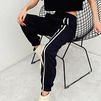 Women Fashion Casual Multicolor Stripe High Waist Leisure Pants Sweatpants Trousers Harem Pants