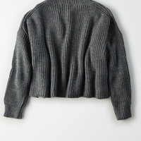 Don't Ask Why Chunky Crop Sweater , Medium Heather