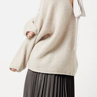 Back Bow Tie Long Sleeve Sweater