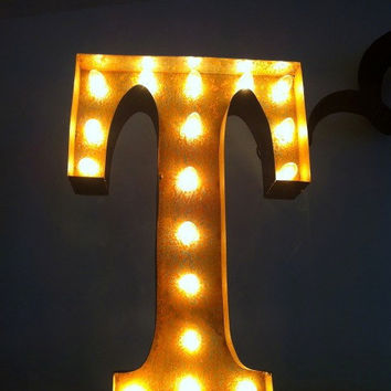 Vintage Marquee Lights Letter T by VintageMarqueeLights on Etsy