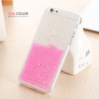 Slim Candy Colorful TPU Soft Glitter Back Protect Skin Phone Cases Cover For Apple iphone 6 6S Case Super Flexible Clear