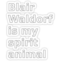 Blair Waldorf is my spirit animal by atomicseasoning