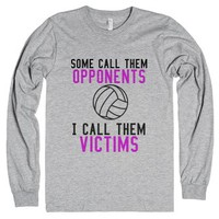Volleyball Victims-Unisex Heather Grey T-Shirt