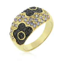 Purple And Black Rose Ring, size : 06