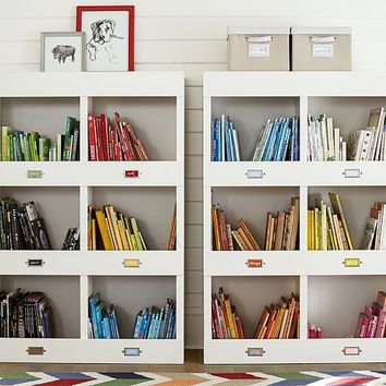 Cameron Library Cubby Bookcase | Pottery Barn Kids