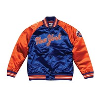Mitchell & Ness Copperstown Collection Satin New York Mets Jacket Blue Orange