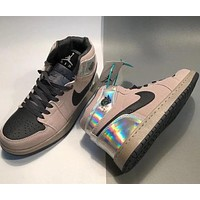 Nike AJ high-top shoes sneakers barb laser fall/winter men's and women's casual sports shoes